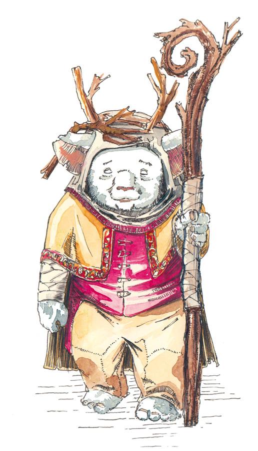 Der dorfälteste Kobold Chiron aus dem Kinderbuch